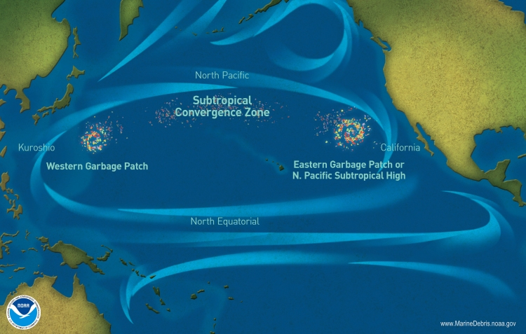NOAA - Great Pacific Garbage Patch Zones