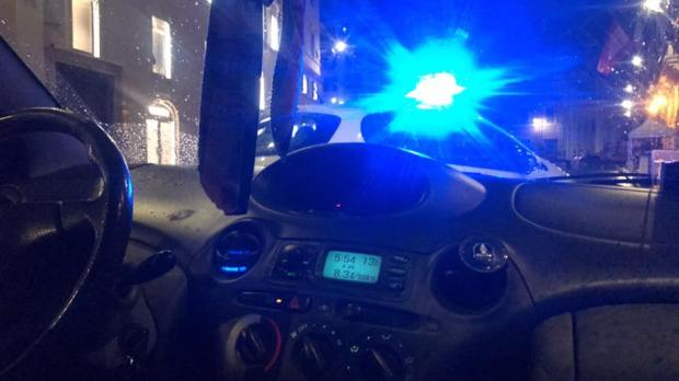 cop car at the spanish steps
