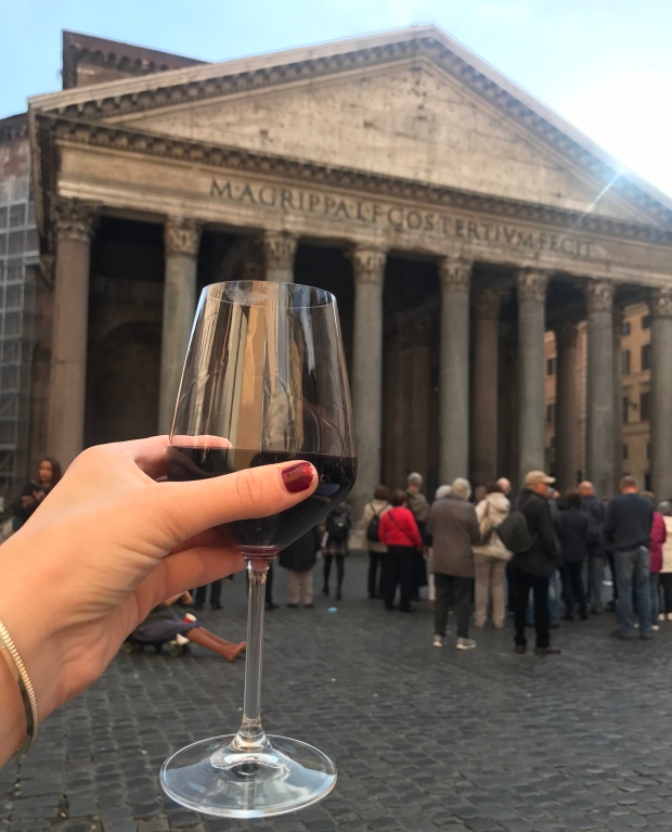 Wine at the Pantheon
